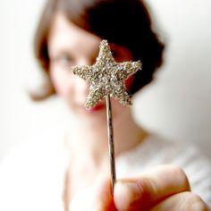 Twinkle Sparklers Diamond hair clips by Giant Dwarf