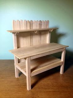 Dale Fluty - Dollhouse Designs: Dreaming of Spring - Dollhouse Potting Bench Tutorial