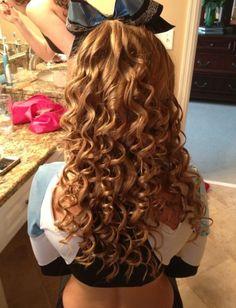 that perfect cheer hair. that perfect cheer hair. Cheer Hair Bows, Cheerleading Hair, Long Curly Hair, Curly Hair Styles, Musical Hair, Cheer Dance, Hair Dos, Hair Ponytail, Dream Hair