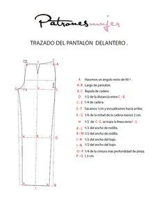 Trazado del pantalón base: Curso de patronaje.