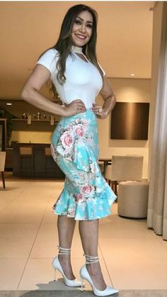 Swans Style is the top online fashion store for women. Shop sexy club dresses, jeans, shoes, bodysuits, skirts and more. Classy Outfits, Casual Outfits, Cute Outfits, Casual Wear, Skirt Outfits, Dress Skirt, Dress Up, Look Fashion, Fashion Outfits
