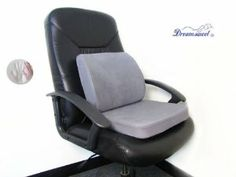 memory foam seat lumbar pain support booster car cushion chair back