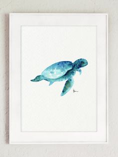 Sea Turtle Watercolor Painting Click to share or buy Price: $25 → Buy this painting
