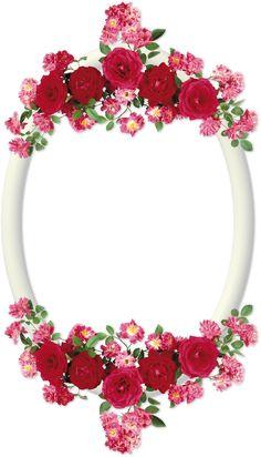 Marcos para fotos: Marcos ovalados con flores