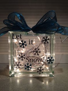Another idea #glassblock #Christmas