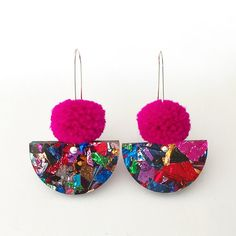 Pom Scallop Drop Hot Pink Pom Pom & Fireworks by EachToOwn