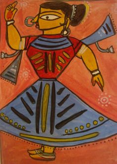 Inspired by Jamini Roy.... - Painting by Shilpa Kulkarni at touchtalent