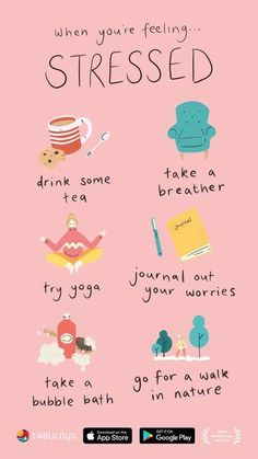 Vie Motivation, Study Motivation, Self Care Bullet Journal, Self Care Activities, Feeling Stressed, Self Improvement Tips, Self Care Routine, Healthy Mind, Self Development