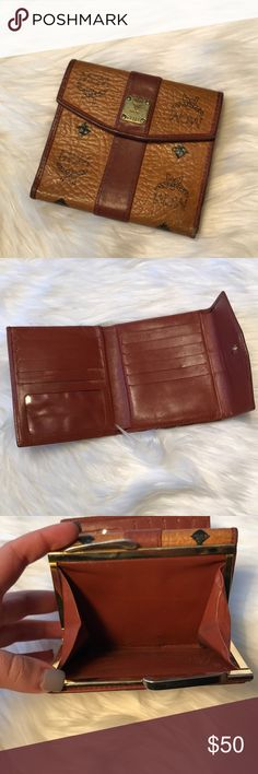 "AUTHENTIC MCM Wallet Vintage Wallet 4.5"" x 4.75"" Some wear  13 credit card slots MCM Bags Wallets"