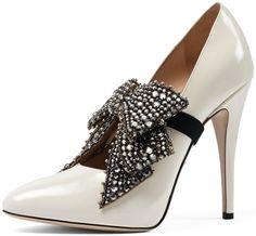420e3795a9c Gucci  Elaisa  Crystal Bow Pumps Dior Shoes