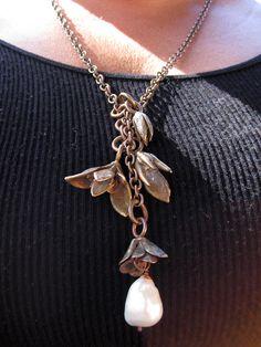 Ancient Bronze Wild Succulent Necklace with by GretchenWalker, $600.00