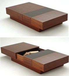 a coffee table that blends with various types of homes and environments is a table with a door magazines etc . Metal Furniture, Unique Furniture, Home Decor Furniture, Table Furniture, Furniture Design, Centre Table Design, Tea Table Design, Centre Table Living Room, Center Table
