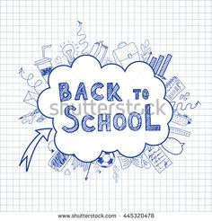 Welcome back to school vector illustration. - stock vector