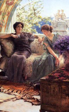 Unwelcome Confidences - Sir Lawrence Alma Tadema