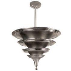 Art Deco Machine Age Chandelier Lustre Lampara Hanglamp Lampadario