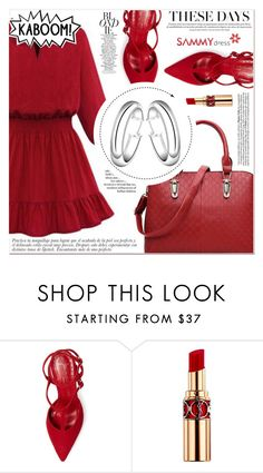"""Red Motion"" by lucky-1990 ❤ liked on Polyvore featuring Jean-Michel Cazabat, Zimmermann and Yves Saint Laurent"