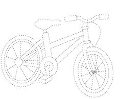 bcycle tracing worksheet | Crafts and Worksheets for Preschool,Toddler and Kindergarten