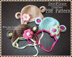 Monkey Hat Crochet Pattern - AMELIA Pattern $4.75