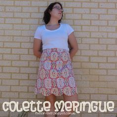 Colette Meringue ~ Ikat stylee with scalloped hem