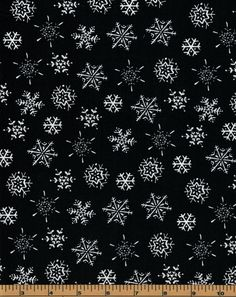 Snowflakes on Black Background- Frosty Fun - Clothworks - 100% Cotton High Quality Quilting Fabric by QuiltsOnTheFly on Etsy