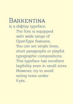Barkentina Typeface and Free Font by Kiril Zlatkov, via Behance