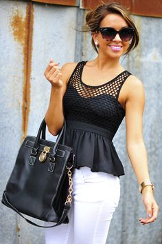 Sweetest Girl Babydoll Tank: Black