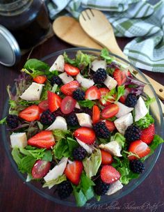 Chicken and Berry Salad making the most of your leftovers