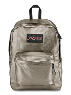 The all new JanSport Super FX Backpack in Pewter Metallic Coat.