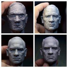 Wizzax sculpture by Sculpture Geek. Sculptures Céramiques, Art Sculpture, Sculpting Tutorials, Art Tutorials, 3d Figures, Modelos 3d, Poses References, Polymer Clay Dolls, Toy Art