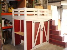 """BARN"" Loft Bed- link doesn't go anywhere, but the idea is awesome. :D"