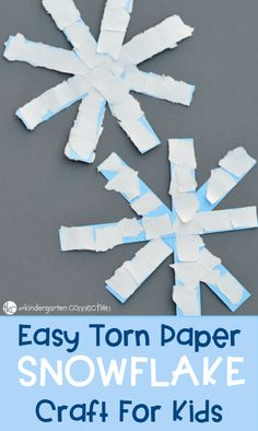 Super Easy Paper Snowflake Craft: Winter Activities for Kids Those cutout snowflakes are a little too challenging for our preschooler, so we came up with a simpler paper snowflake craft. Snow Crafts, K Crafts, Daycare Crafts, Classroom Crafts, Foam Crafts, Winter Crafts For Toddlers, Winter Activities For Kids, Toddler Crafts, Preschool Winter