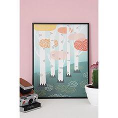 Buy Michelle Carlslund Illustration Forest Print Poster, 50cm x 70cm Online at johnlewis.com
