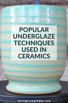 Nice There are plenty of techniques to apply underglazes, and you can make any design from simple strokes to intricate floral patterns. Due to the number of colors available in naturally occurring clay, slips can add distinctive, vibrant colors to the pottery they're applied on. #underglaze #pottery #ceramics #crafts