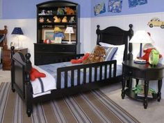 Love the dark wood...not commonly used for kids