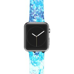 "Ebi Emporium ""Just Believe"" Blue Purple Apple Watch Strap"