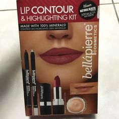 Bellapierre cosmetic lip contour & highlight kit. Amazing lip contour kit, helps create a dimensional look for bigger, fuller kissable lips.  Makeup Lipstick