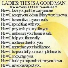 What does it mean to be a good man
