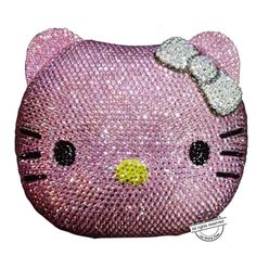 Cartoon Cat Face evening bag cartoon girl Handbags animal crystal Clutch bag diamond party Purse ladies prom Shoulder bag SC025
