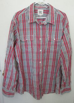 Paper, Denim, and Cloth mens button up shirt size 2XL long sleeves 100% cotton #PaperDenimCloth #ButtonFront.  http://www.ebay.com/itm/Paper-Denim-and-Cloth-mens-button-up-shirt-size-2XL-long-sleeves-100-cotton-/272015285060?ssPageName=STRK:MESE:IT