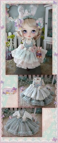Кукла Блайз, Blythe Doll Одежда для кукол, Clothes for dolls Creepy Dolls, Felt Dolls, Custom Dolls, Diy Doll, Doll Face, Doll Accessories, Doll Patterns, Blythe Dolls, Bjd
