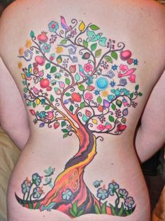 This is kind of amazing. So unusual! #tattoo #tree