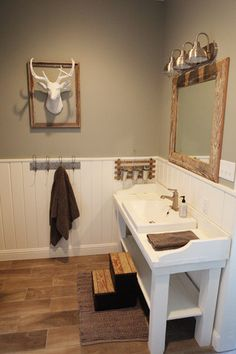 Have always liked bead board in a bathroom The Farmhouse - Magnolia Homes