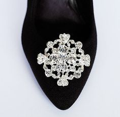 Bridal Shoe Clips Crystal Rhinestone Shoe Clips by LXdesigns, $35.00