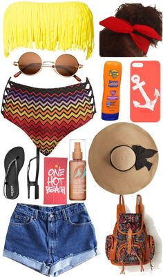 """Beach ☀"" by daisiesandsunflowers ❤ liked on Polyvore"