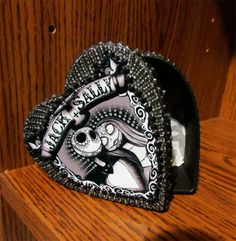 Day of the Dead Nightmare Before Christmas Jack and Sally Valentine Ring Box