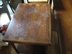 Possible To Re Veneer Table Top Need My Dining Refinish