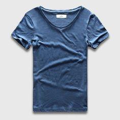 T Shirts For Men Cotton T-Shirts Retro Brand T Shirts Designer Neck Deep Curved Hem Shirt Teen Men Clothing Urban