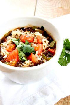 Southwestern Black Bean Soup Recipe - RecipeGirl.com