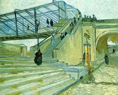 The Trinquetaille Bridge | Vincent Van Gogh | oil painting #vangoghpaintings