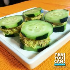 Tuna Cucumber Mini Sandwiches A Yes You Can Diet Plan Snack Recipe